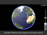 Terrestrial Globe - Flash 3D Earth Viewer Application